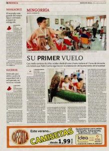 Diario de Ávila 25 de agosto de 2011: Su primer vuelo (Mingorría)